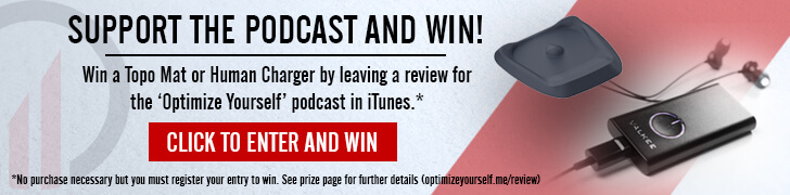 Podcast review contest - Win a Topo Mat or Human Charger banner image